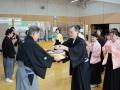 表彰式:金的の部人・山田選手