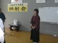 前日錬士に昇格した板橋武子先生の挨拶