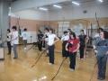 執り弓の姿勢の練習