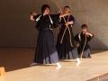 弦が矢を押出している絶妙な瞬間 撮影:松髙桂子