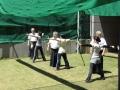 矢道からの行射練習(先週より距離が伸びました)