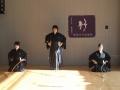 前年錬士昇格者(中央:板橋武子先生)による一つ的射礼