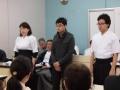 新人18人の内総会に出席した3人
