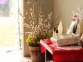本日の商品と渋谷さん提供のお花